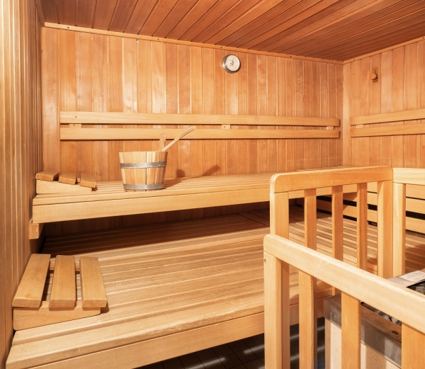 Finnish wood sauna